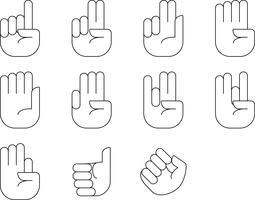 hand tellen teken vector
