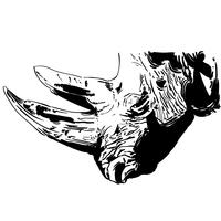 rhino rhinoceros vector eps