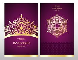 Wedding invitation or card with abstract background. Islam, Arabic, Indian, Dubai. vector