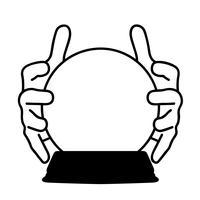 vector de bola de cristal