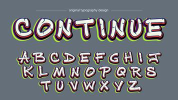 Design tipografia di graffiti colorati