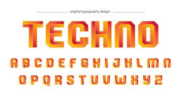 Design moderne de typographie orange vecteur