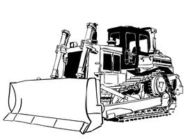 bulldozer vector eps
