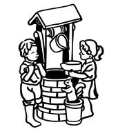 wishing well vector eps