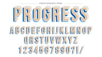 Bold bevel blue typography design
