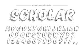 Sketch style typography design