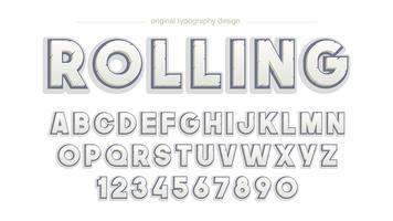 Conception de typographie rock biseau gras