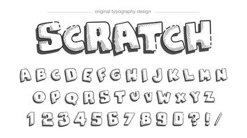 Sketch style typography design vector