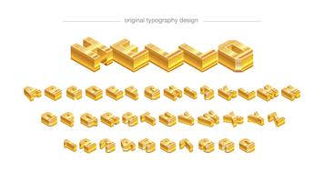 Conception de typographie abstrait barre d'or vecteur
