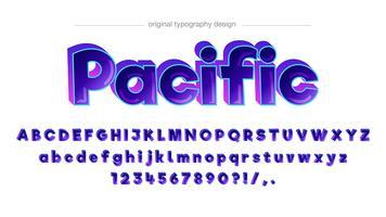 Conception de typographie comique colorée