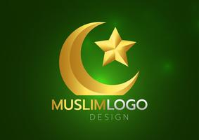 Islamitische groetkaart op groene achtergrond. Vector illustratie. Ramadan Kareem