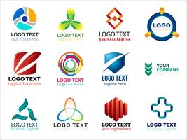 Colorful logo design collection
