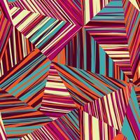 Modello senza cuciture di forma geometrica astratta. Sfondo a righe