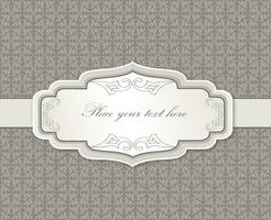 Calligraphic floral frame. Page decor element. Card border
