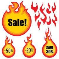 Sale label vector set. Hot price stickers