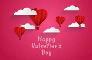 Tarjeta de invitación de amor Fondo abstracto de San Valentín. Tarjeta de felicitación, diseño plano Feliz amor. Se puede agregar texto. ilustración vectorial