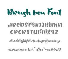 English alphabet handwritten vector script on white background. Informal handwriting Handwritten font with uppercase and lowercase letter and punctuation