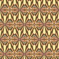 Abstract floral pattern. Stylish geometric seamless ornament