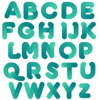 Abstract green typography design