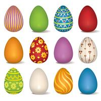 Easter eggs sign set. Easter symbol for holiday greeting card decor.
