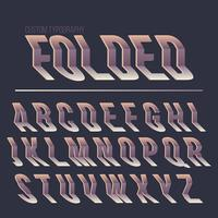 Abstract folded typography design