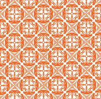 Abstract floral pattern. Stylish geometric seamless ornament vector