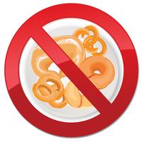 Gluten free icon. No bread sign. Ban high-calorie food symbol vector