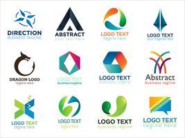 Pacote de pacote de logotipo moderno