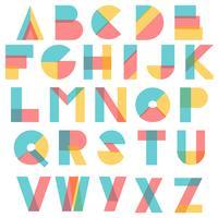 Concept de typographie moderne