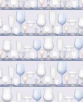Wine glass seamless pattern. Drink wine background. Vinary party decor