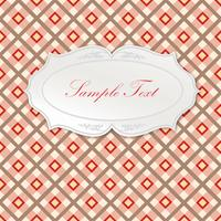 Oval frame. Seamless tartan pattern Square geometric background