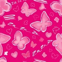 Heart, butterfly seamless pattern Valentine day holiday tile ornament