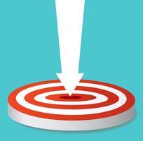 ícone de seta no vetor de tiro com arco de destino