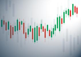Candlestick stock exchange background vector