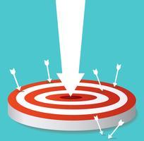 arrow icon on target archery vector