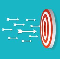 icono de flecha en vector de tiro con arco de destino
