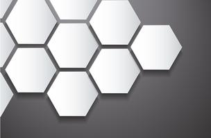 abstract bee hive hexagon and space background