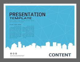 Presentation design template, City buildings and real estate concept.