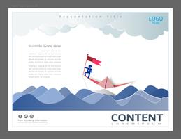 Presentation layout design template, Leadership concept.