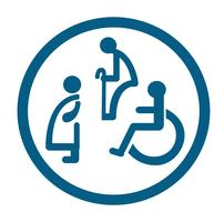 bathroom for persons with disabilities. disabled toilet sign