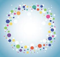 Abstract colorful round circle background