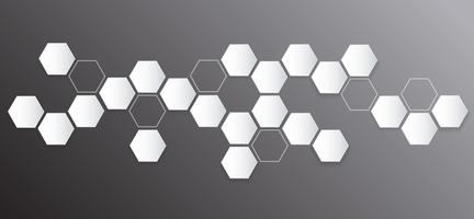 abstract hexagon bee hive background