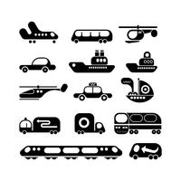 Transport icon set vector