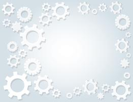 Gears wheel and space background