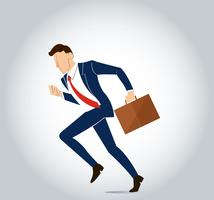 businessman with gear to success concept vector