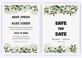 Invitation de mariage, invitation, faites gagner la carte de date avec une élégante anémone de jardin de lavande