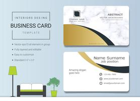 Business name card template for interior designer.