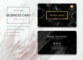 Interior business name card template.