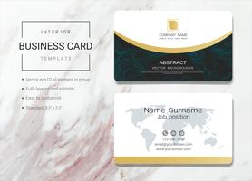 Interior business name card template
