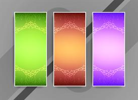 Abstract colorful elegant business banners set